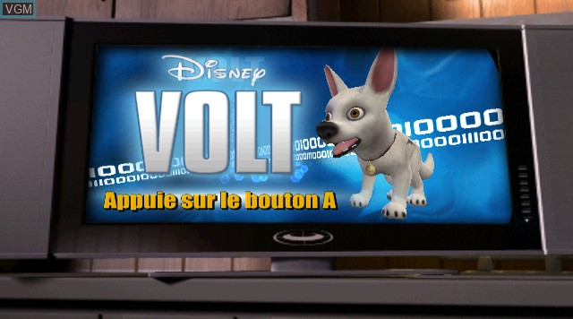 Title screen of the game Bolt on Nintendo Wii
