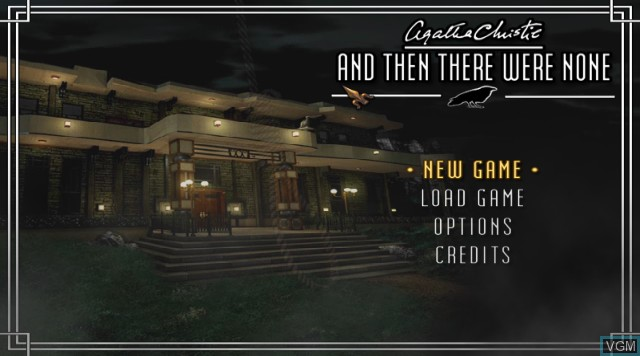 Title screen of the game Agatha Christie - And Then There Were None on Nintendo Wii