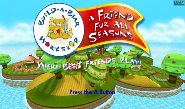 Title screen of the game Build-A-Bear Workshop - A Friend Fur All Seasons on Nintendo Wii