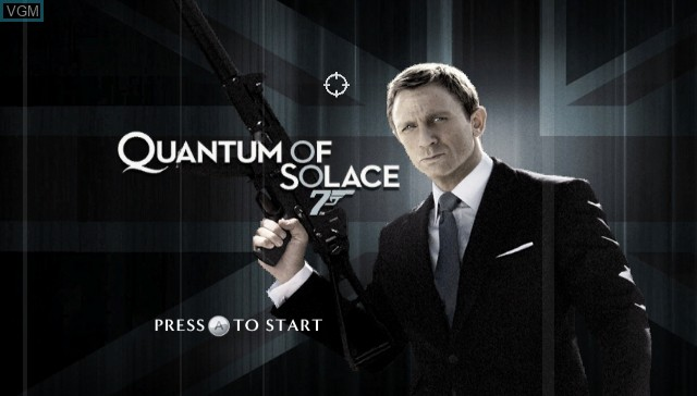 Title screen of the game 007 - Quantum of Solace on Nintendo Wii
