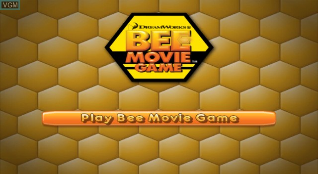 Title screen of the game Bee Movie Game on Nintendo Wii