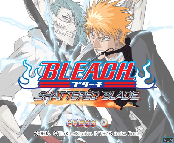 Title screen of the game Bleach - Shattered Blade on Nintendo Wii