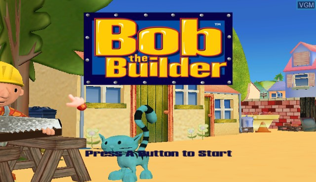 Title screen of the game Bob the Builder - Festival of Fun on Nintendo Wii