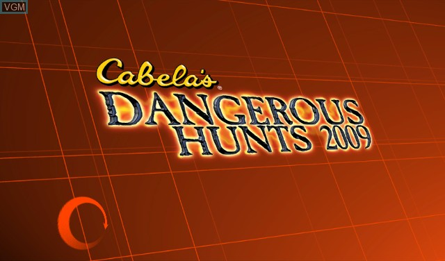Title screen of the game Cabela's Dangerous Hunts 2009 on Nintendo Wii