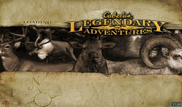Title screen of the game Cabela's Legendary Adventures on Nintendo Wii