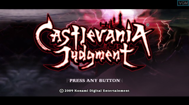 Title screen of the game Castlevania Judgment on Nintendo Wii