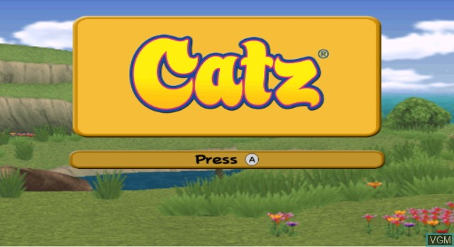 Title screen of the game Catz on Nintendo Wii