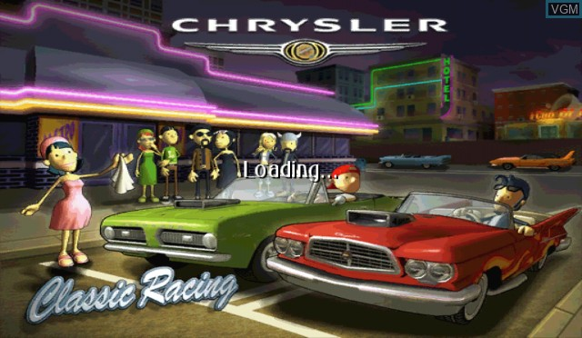 Title screen of the game Chrysler Classic Racing on Nintendo Wii