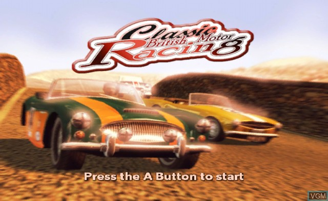 Title screen of the game Classic British Motor Racing on Nintendo Wii