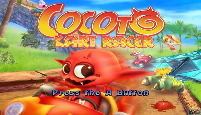 Title screen of the game Cocoto Kart Racer on Nintendo Wii