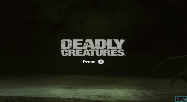 Title screen of the game Deadly Creatures on Nintendo Wii