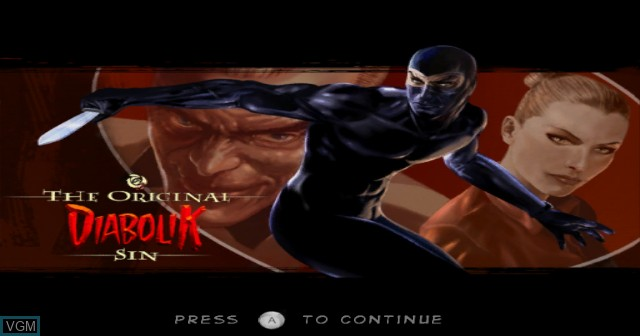 Title screen of the game Diabolik - The Original Sin on Nintendo Wii