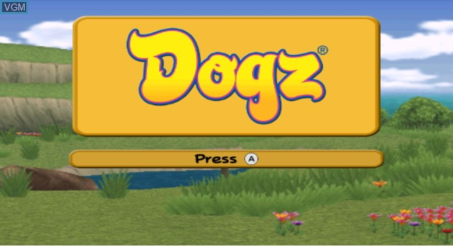 Title screen of the game Dogz on Nintendo Wii