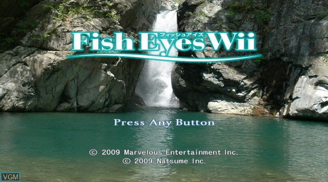 Title screen of the game Fish Eyes Wii on Nintendo Wii