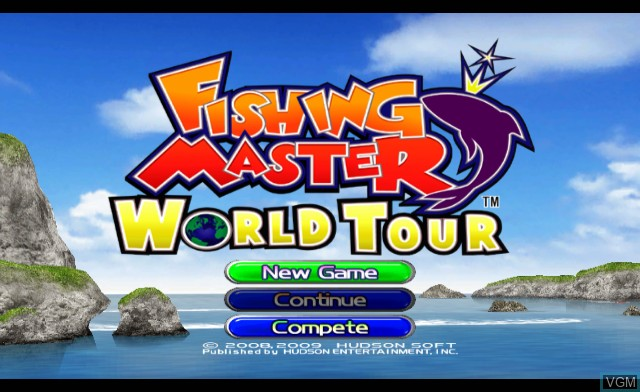 Title screen of the game Fishing Master World Tour on Nintendo Wii