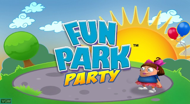Title screen of the game Fun Park Party on Nintendo Wii