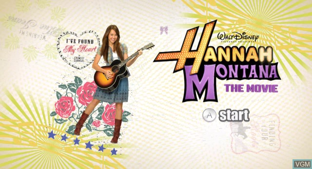 Title screen of the game Hannah Montana - The Movie on Nintendo Wii