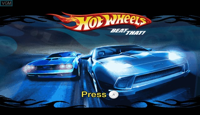 Title screen of the game Hot Wheels - Beat That on Nintendo Wii