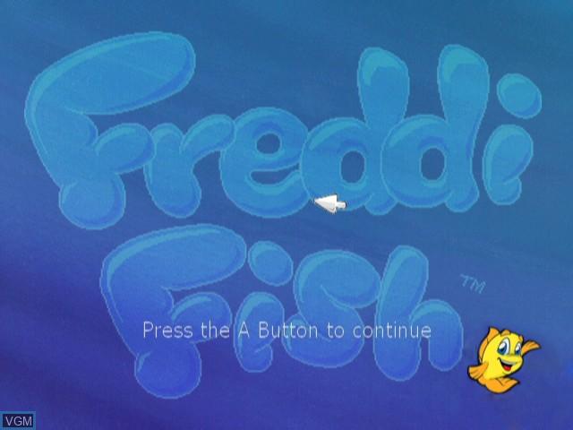 Title screen of the game Freddi Fish in Kelp Seed Mystery on Nintendo Wii