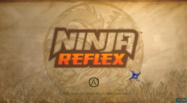 Title screen of the game Ninja Reflex on Nintendo Wii