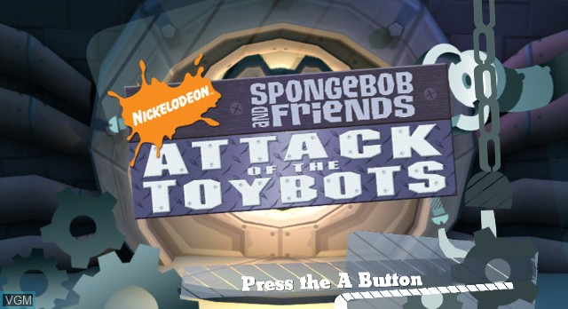 Title screen of the game Nicktoons - Attack of the Toybots on Nintendo Wii