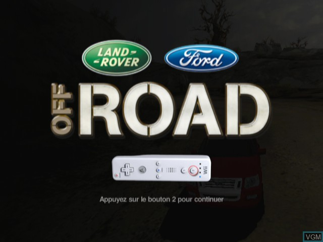 Title screen of the game Ford Racing - Off Road on Nintendo Wii
