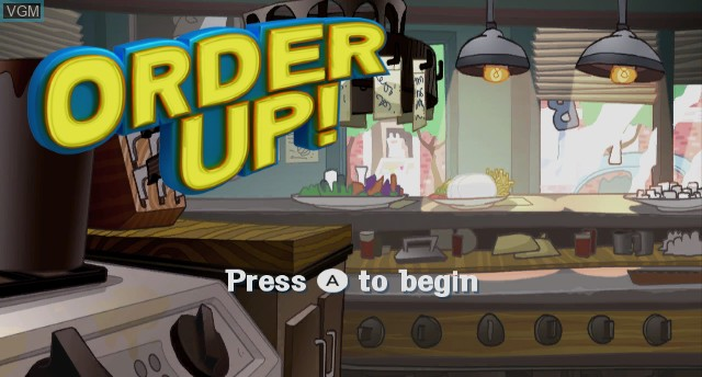 Title screen of the game Order Up! on Nintendo Wii