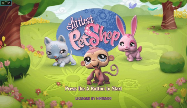 Title screen of the game Littlest Pet Shop on Nintendo Wii