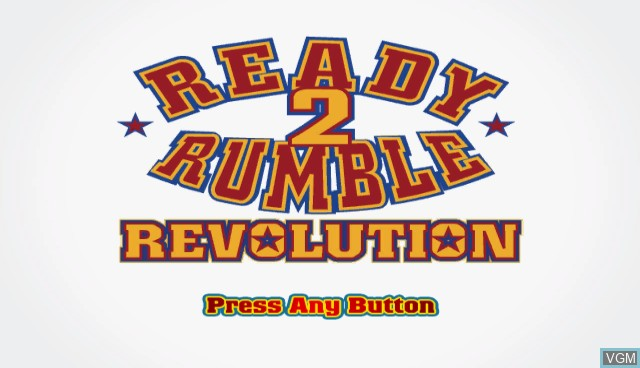 Title screen of the game Ready 2 Rumble Revolution on Nintendo Wii