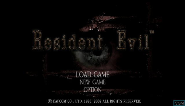 Title screen of the game Resident Evil Archives - Resident Evil on Nintendo Wii