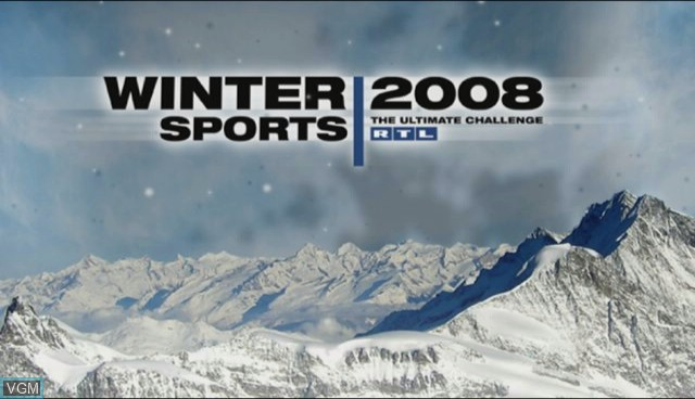 Title screen of the game RTL Winter Sports 2008 on Nintendo Wii