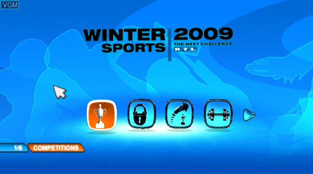 Title screen of the game RTL Winter Sports 2009 on Nintendo Wii