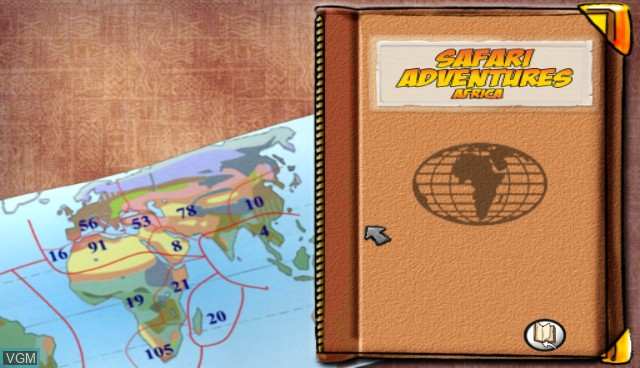 Title screen of the game Safari Adventures Afrique on Nintendo Wii