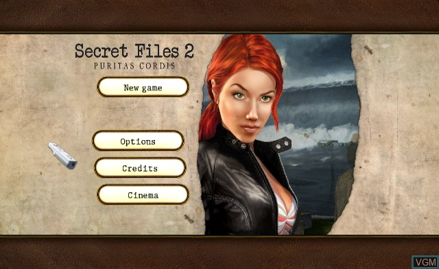 Title screen of the game Secret Files 2 - Puritas Cordis on Nintendo Wii