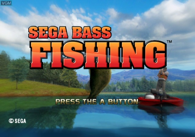 Title screen of the game Sega Bass Fishing on Nintendo Wii