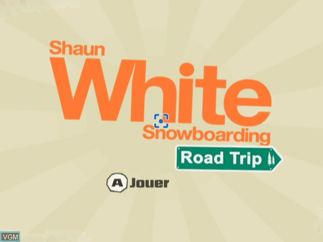 Title screen of the game Shaun White Snowboarding - Road Trip on Nintendo Wii