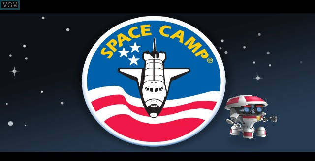 Title screen of the game Space Camp on Nintendo Wii