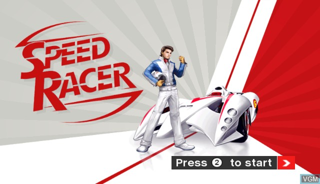 Title screen of the game Speed Racer on Nintendo Wii
