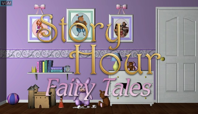 Title screen of the game Story Hour - Fairy Tales on Nintendo Wii