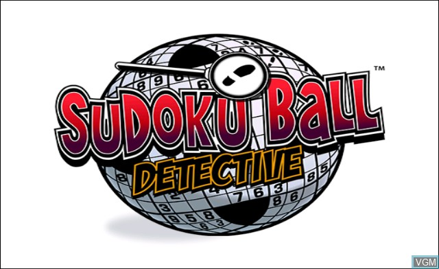 Title screen of the game Sudoku Ball Detective on Nintendo Wii