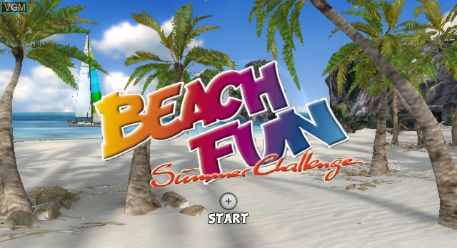 Title screen of the game Beach Fun Summer Challenge on Nintendo Wii