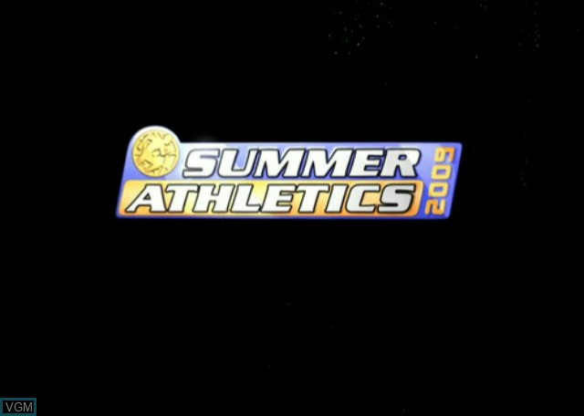 Title screen of the game Summer Athletics 2009 on Nintendo Wii