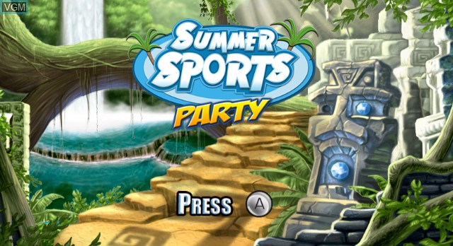 Title screen of the game Summer Sports Party on Nintendo Wii