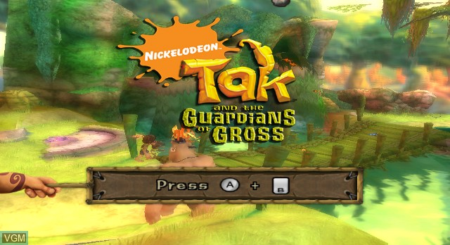 Title screen of the game Tak and the Guardians of Gross on Nintendo Wii