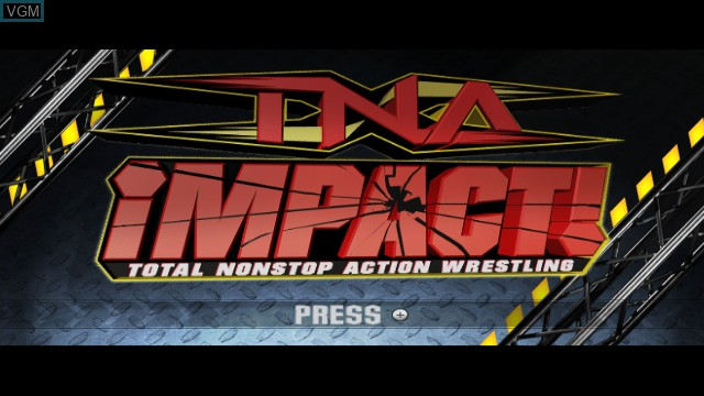 Title screen of the game TNA iMPACT! on Nintendo Wii