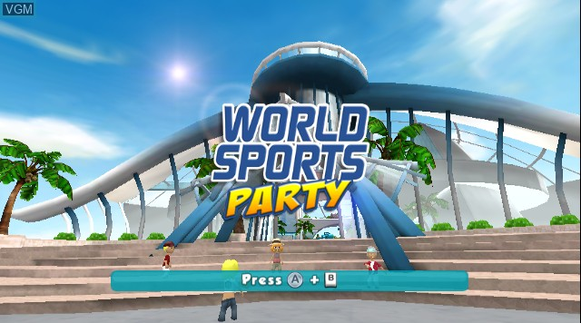 Title screen of the game World Sports Party on Nintendo Wii