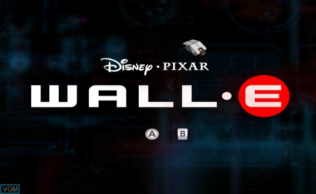 Title screen of the game WALL-E on Nintendo Wii