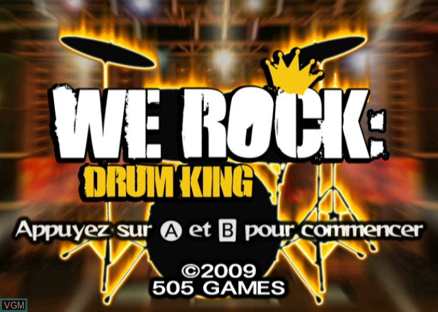 Title screen of the game Rolling Stone - Drum King on Nintendo Wii