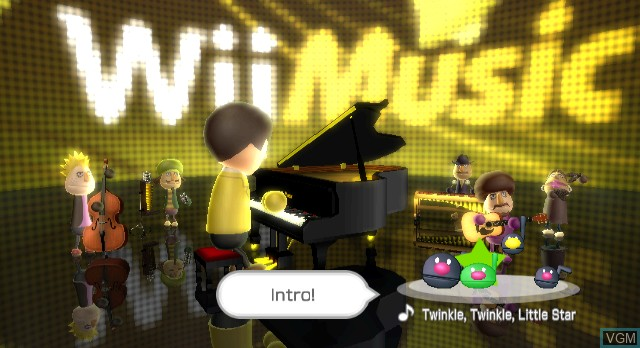 Title screen of the game Wii Music on Nintendo Wii
