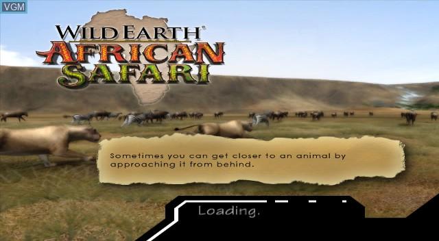 Title screen of the game Wild Earth - African Safari on Nintendo Wii